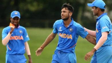 Photo of न्यूजीलैंड को हराकर ग्रुप में शीर्ष पर रहा भारत अंडर-19